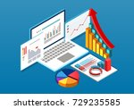 isometric data table | Shutterstock .eps vector #729235585