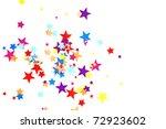 colored stars confetti on white | Shutterstock . vector #72923602