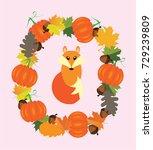 vector illustration of fall...   Shutterstock .eps vector #729239809