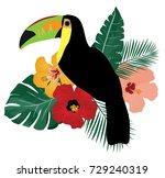 vector illustration of tropical ... | Shutterstock .eps vector #729240319