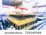 blurred image close up row of... | Shutterstock . vector #729240589