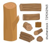 stacked wood pine timber for... | Shutterstock .eps vector #729242965