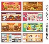 shop facade store front... | Shutterstock .eps vector #729242971