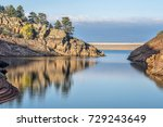 quiet afternoon on a mountain... | Shutterstock . vector #729243649