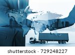business of worldwide cargo... | Shutterstock . vector #729248227