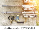close up fogging machines use... | Shutterstock . vector #729250441
