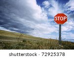 View Of A Stop Signal With...