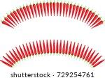 chili icon | Shutterstock .eps vector #729254761