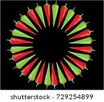 chili icon | Shutterstock .eps vector #729254899