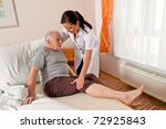 a nurse in aged care for the... | Shutterstock . vector #72925843