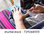 close up of an elderly thai... | Shutterstock . vector #729268555