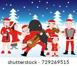 christmas concert with family. | Shutterstock .eps vector #729269515