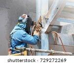 welding work  worker with... | Shutterstock . vector #729272269