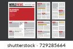 newspaper template vector.... | Shutterstock .eps vector #729285664