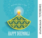 diwali or deepavali greetings... | Shutterstock .eps vector #729288481