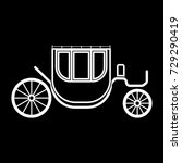 carriage white icon . | Shutterstock .eps vector #729290419