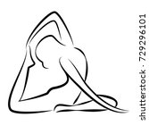 Image Of Yoga Vector Posture