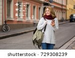 augmented reality in marketing. ... | Shutterstock . vector #729308239