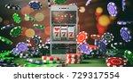 online casino gambling concept. ... | Shutterstock . vector #729317554