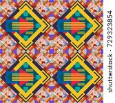 seamless pattern with rhombus... | Shutterstock . vector #729323854