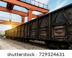 the train stops at the...   Shutterstock . vector #729324631