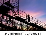 civil engineer and safety... | Shutterstock . vector #729338854