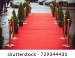 red carpet | Shutterstock . vector #729344431