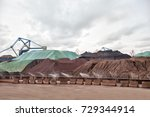iron ore stacking site | Shutterstock . vector #729344914
