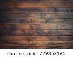 wood plank wall background | Shutterstock . vector #729358165