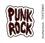 hand draw sketch punk rock.... | Shutterstock .eps vector #729370804
