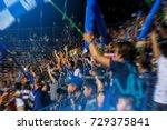 soccer fans in stadium... | Shutterstock . vector #729375841