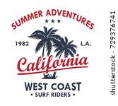 california vintage t shirt... | Shutterstock .eps vector #729376741