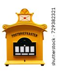 traditional german mailbox on... | Shutterstock . vector #729382321