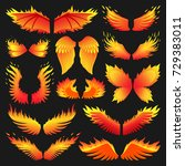 flame bird fire wings fantasy