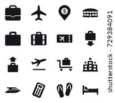 16 vector icon set   portfolio  ... | Shutterstock .eps vector #729384091