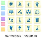 ecology icons on post it note...   Shutterstock .eps vector #72938560