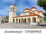 agios nikolaos church in palaia ... | Shutterstock . vector #729389905