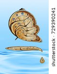 liquid and flexible time... | Shutterstock . vector #729390241