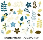 winter and christmas foliage... | Shutterstock .eps vector #729392719