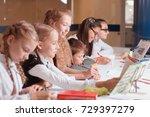 classes in creative children's... | Shutterstock . vector #729397279