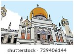 vector sketch with color of...   Shutterstock .eps vector #729406144