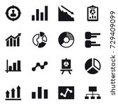 16 vector icon set   target... | Shutterstock .eps vector #729409099