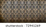 Traditional Thai floral pattern Background - stock photo