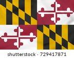 maryland waving flag. maryland... | Shutterstock . vector #729417871