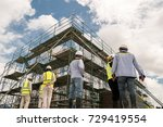 civil engineer and safety... | Shutterstock . vector #729419554