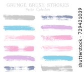 watercolor  ink or paint brush... | Shutterstock .eps vector #729421039