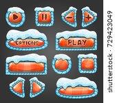 winter cartoon orange buttons...