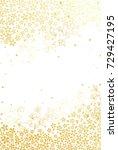 golden cherry blossoms on white ... | Shutterstock .eps vector #729427195
