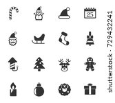 christmass vector icons for... | Shutterstock .eps vector #729432241