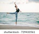 beautiful scene of a dancing... | Shutterstock . vector #729433561